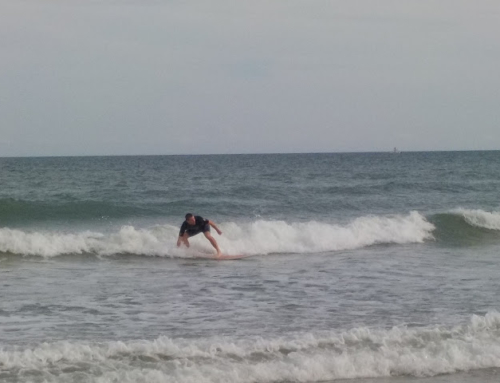 Surfs Up at Cocoa Beach, Florida