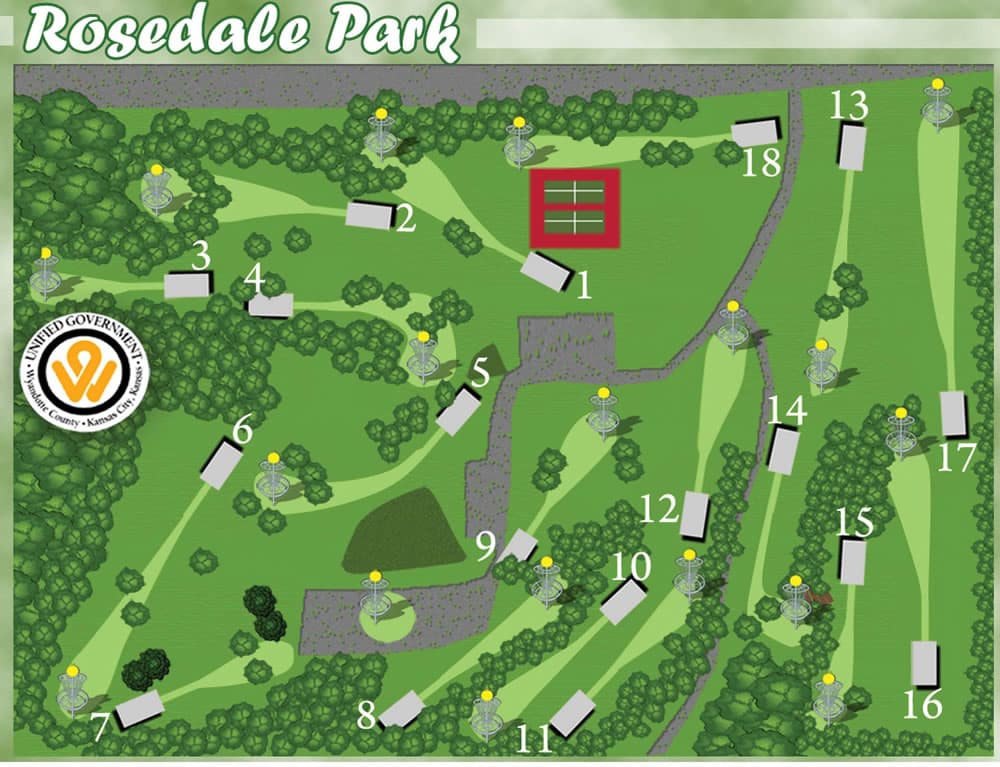rosedale park, kansas city, kansas frisbee golf, play, fun, outdoor