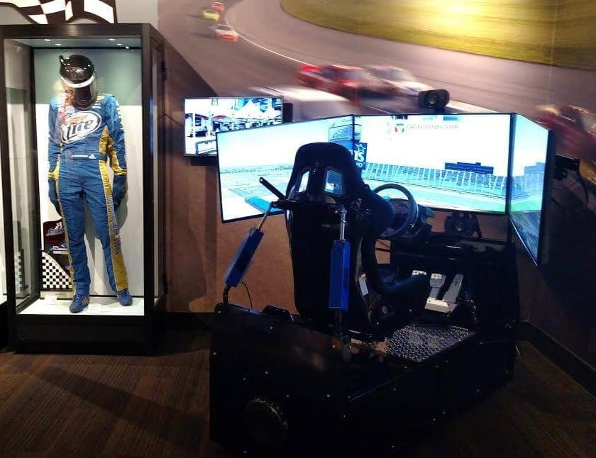 Race car simulator.
