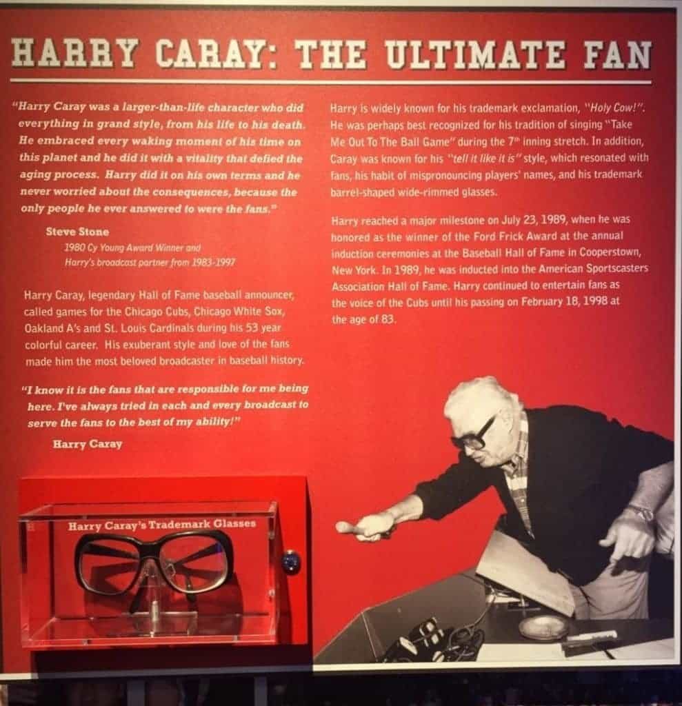 Statics page about Harry Caray.