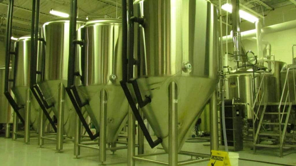Brewing tanks at Aero Plains.