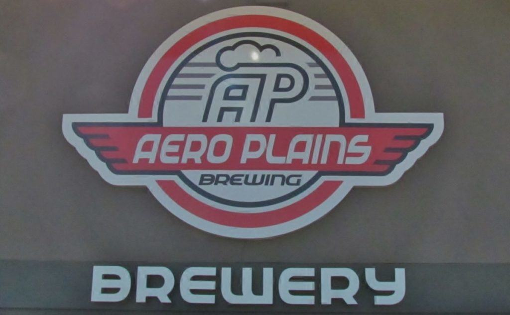 Aero-Plains Brewing sign.