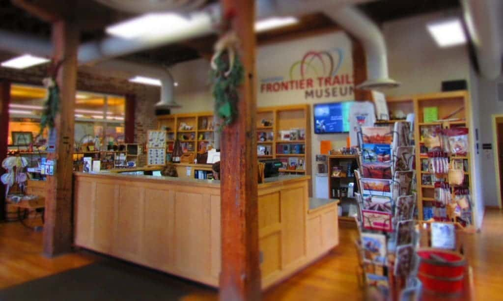 Entrance and gift shop of Trails Museum.