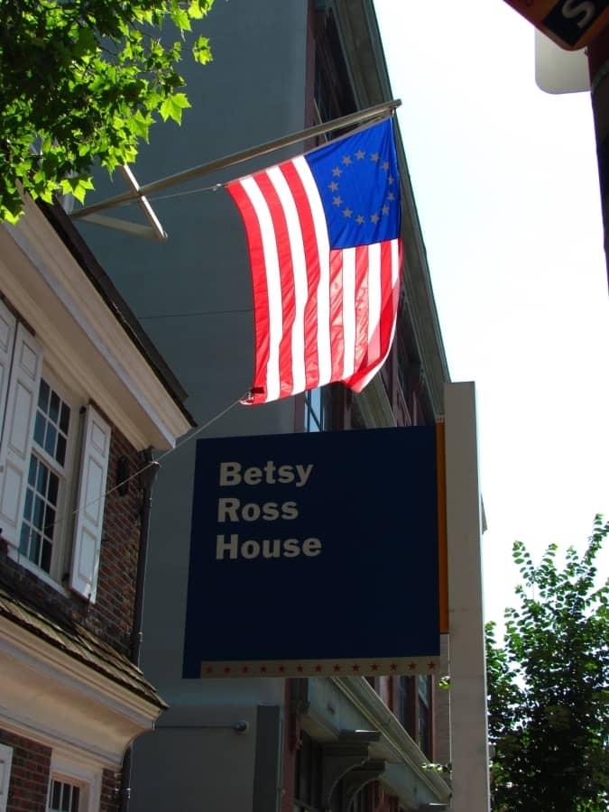 Betsy Ross - Philadelphia - Stars and Stripes - Old Glory - Revolutionary War - America