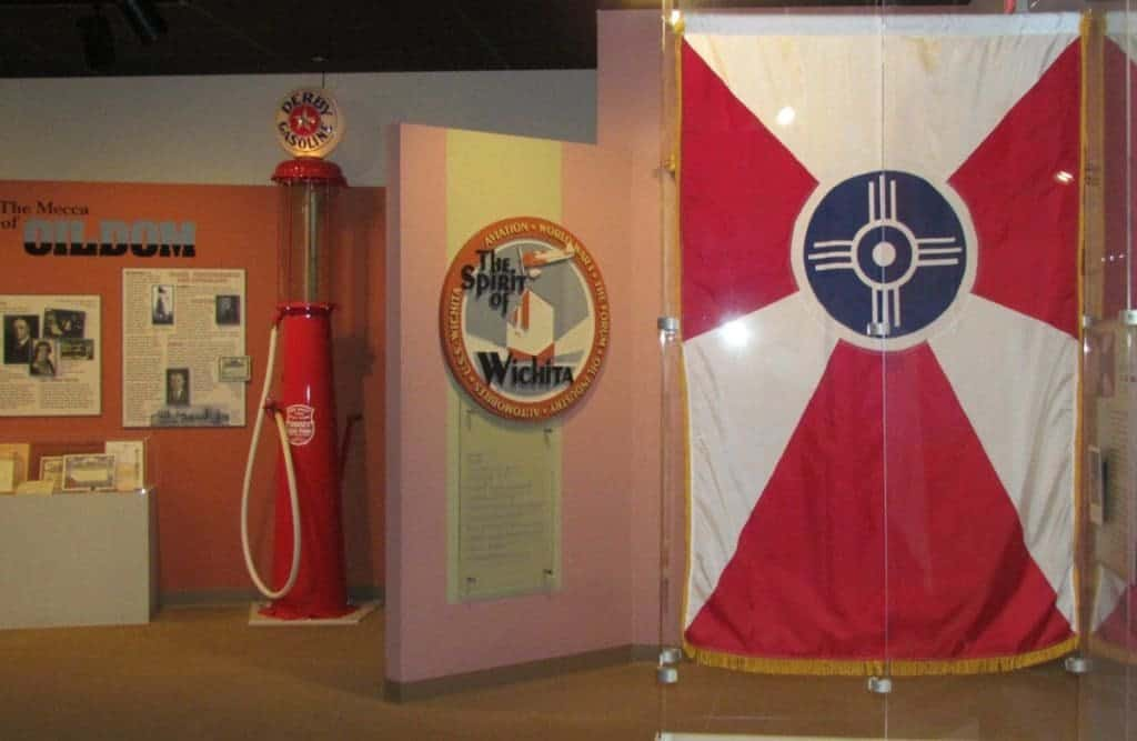 A Wichita specific display includes the city flag.