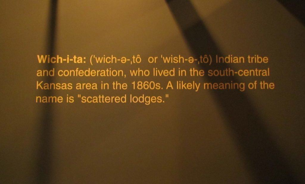 The name Wichita is derived from an indian tribe who inhabited the area prior to the Civil War.