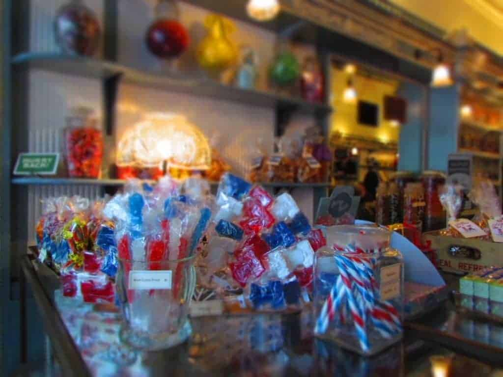 Candy display at Shane Confections.