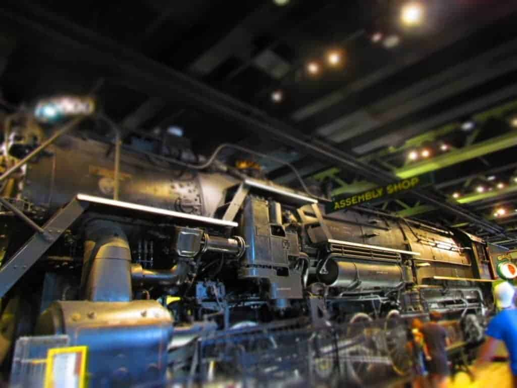 Large steam train display.