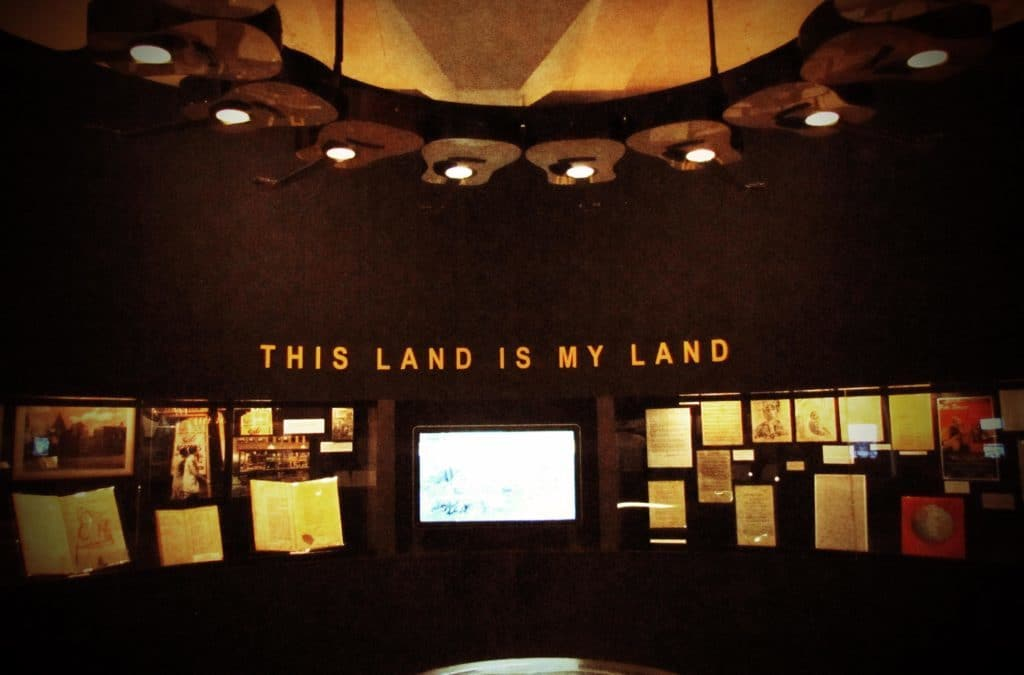 """The iconic song """"This Land is My Land"""" is the showcase piece for the Woody Guthrie Center."""