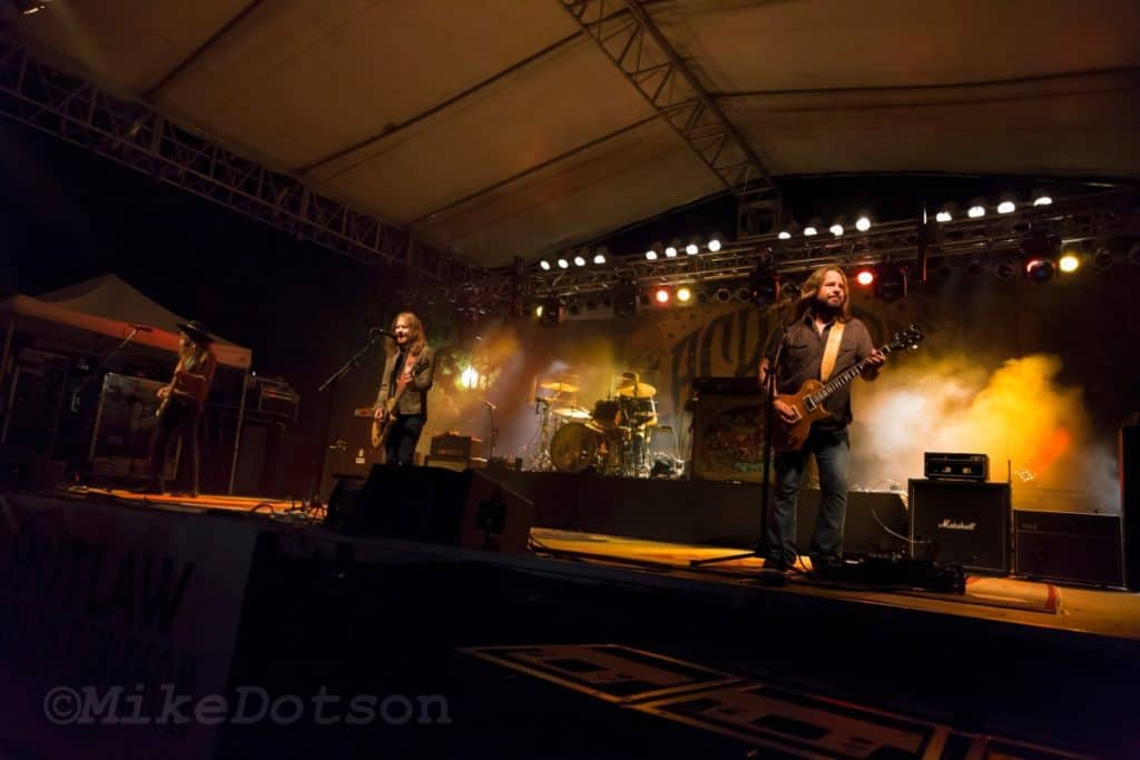 Blackberry Smoke performs as the headliner band at Santa-Cali-Gon Days.