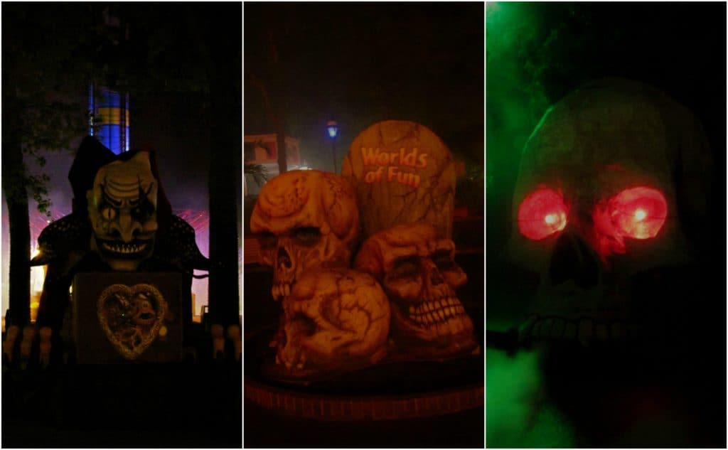 Seasonal decorations can be found throughout the theme park during Halloween Haunt.