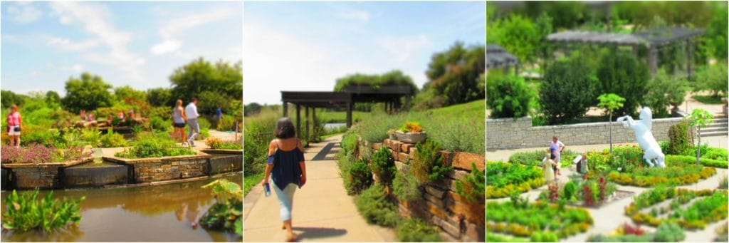 A variety of gardens are meant to be explored by visitors of all ages.