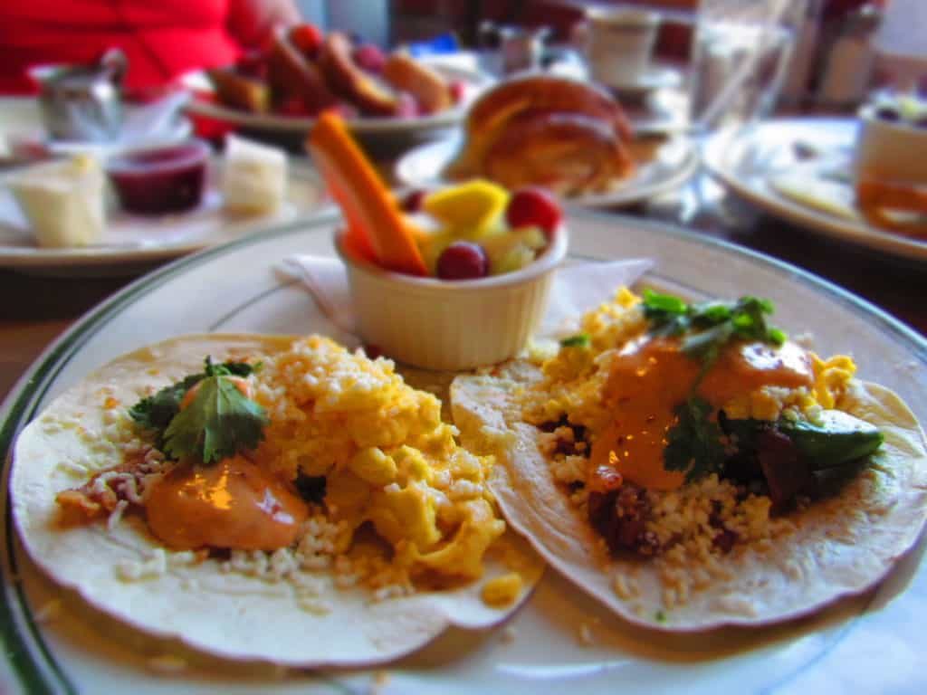 Breakfast Tacos combine an assortment of unique flavors to create a tasty breakfast dish.