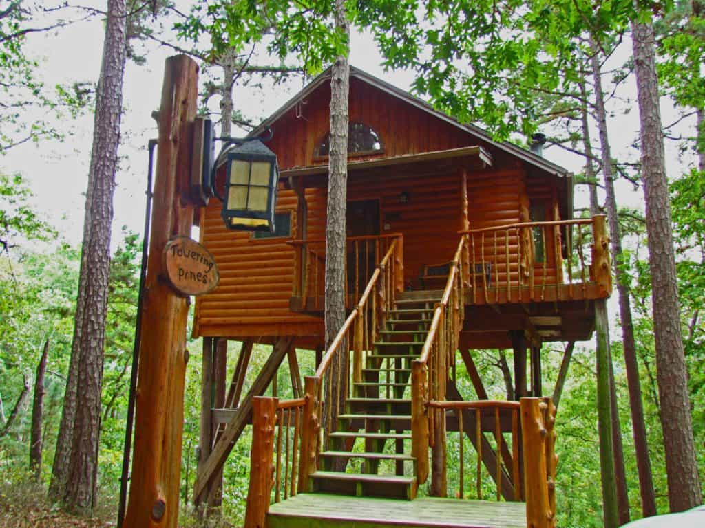 Treehouse Cottages is an interesting lodging option in the heart of the Ozark Mountains.