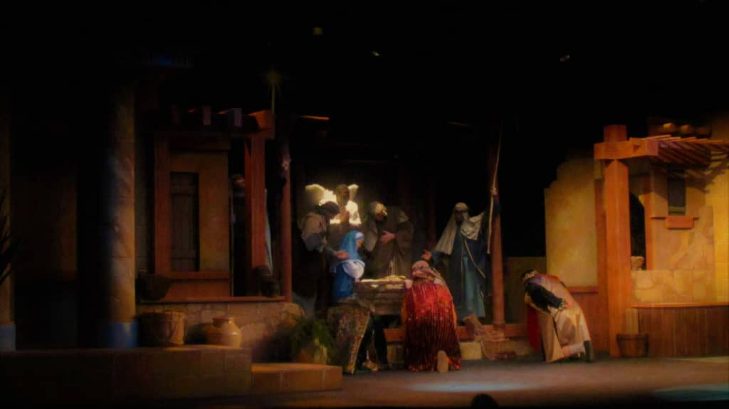The Living Nativity tells the story of Christ's birth.