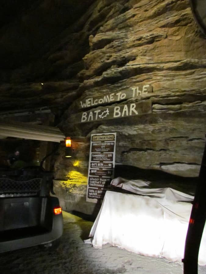 A drive through bar is part of the tour at Top of the Rock.