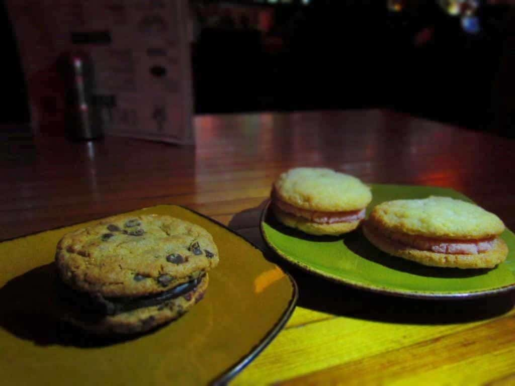 Delectable cookie sandwiches make a perfect end to a meal at Bourbon and Baker.