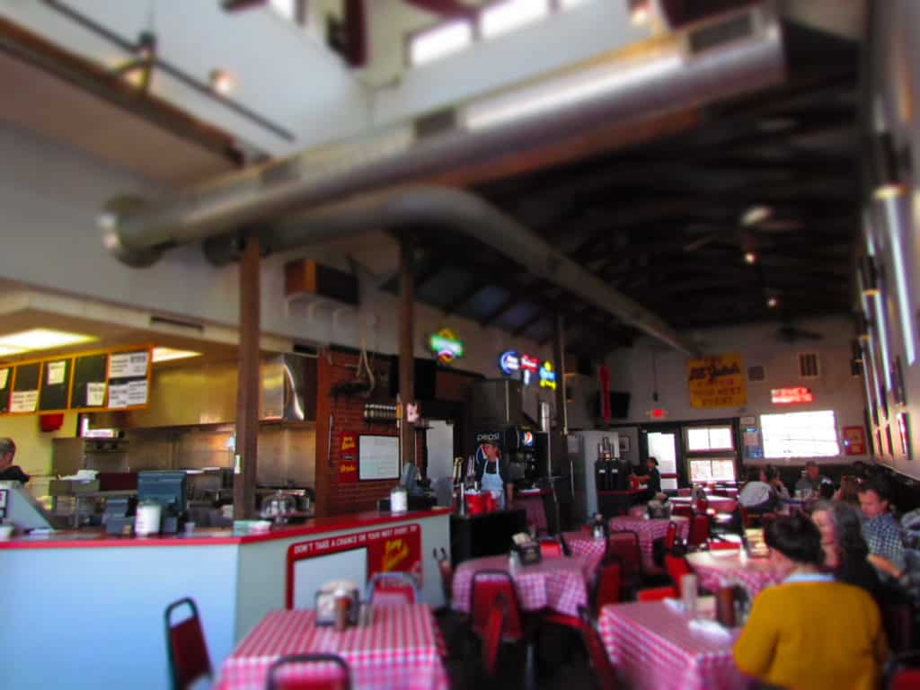 Seating is more readily available at Danny Edwards Blvd BBQ when you arrive just before closing time.
