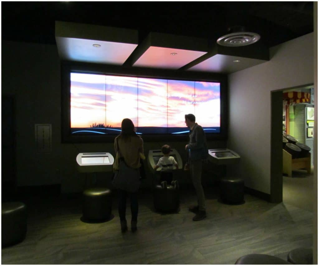 The exhibits are designed to be user friendly for visitors of all ages.