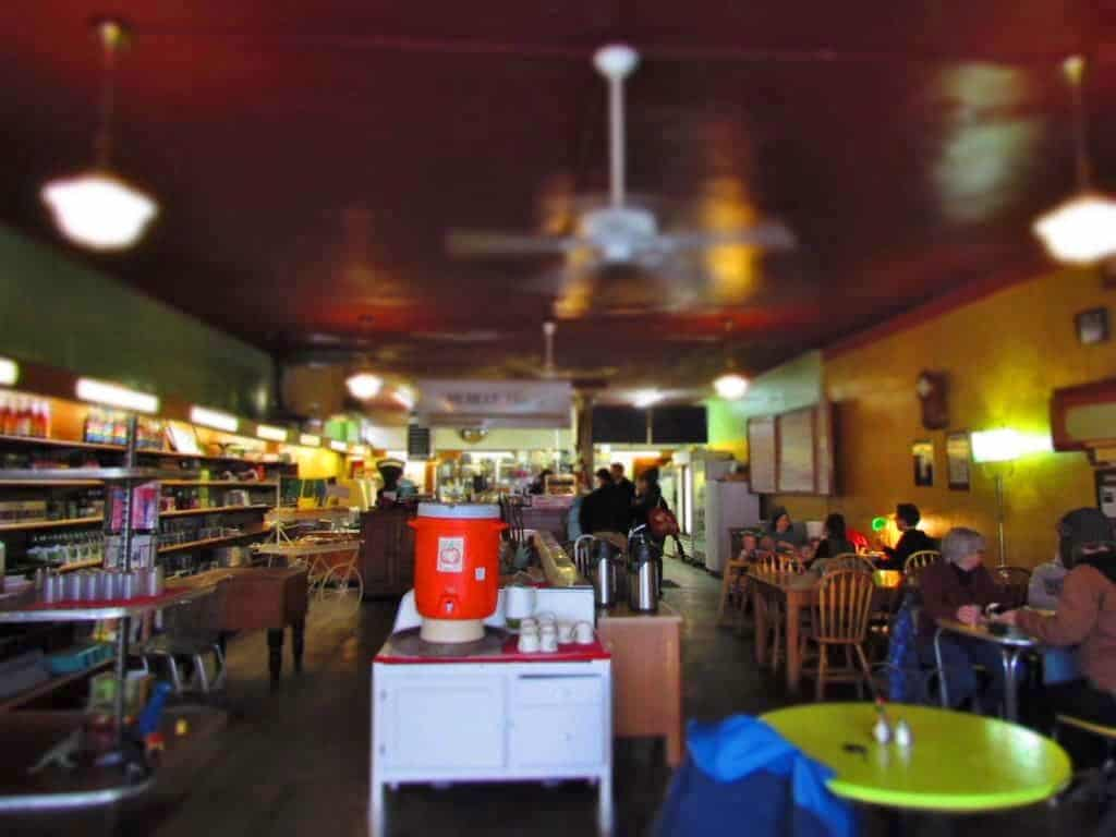 You Say Tomato is an eclectic restaurant housed in a converted neighborhood grocery store.