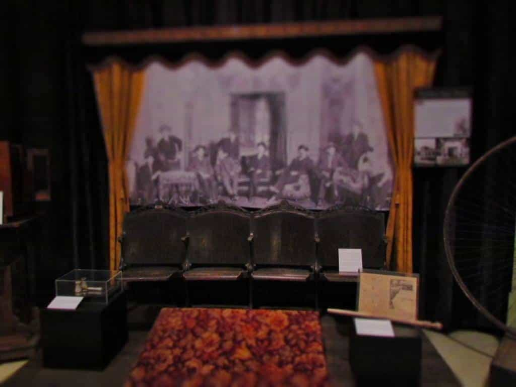 A display from one of Manhattan's original theaters.