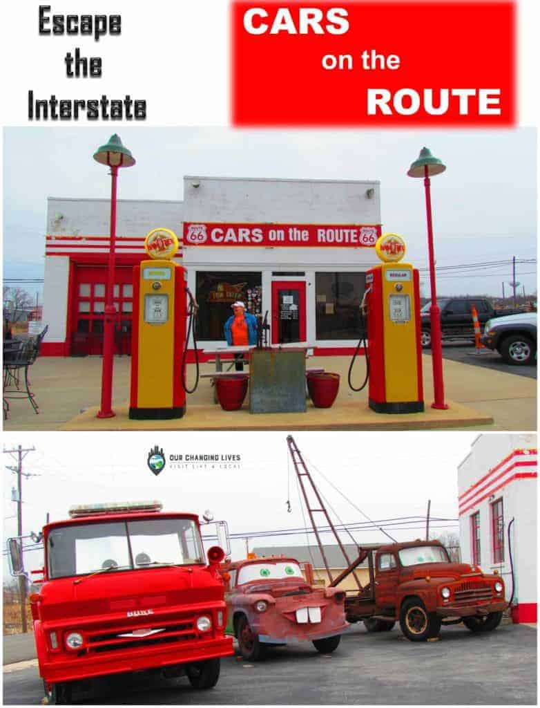 Cars on the Route-Galena Kansas-Pixar-Cars-antiques-Route 66-Mother Road-America's Main Street