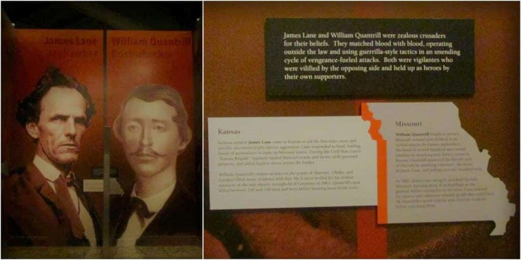 James Lane and William Quantrill were opposing force leaders during the Civil War.