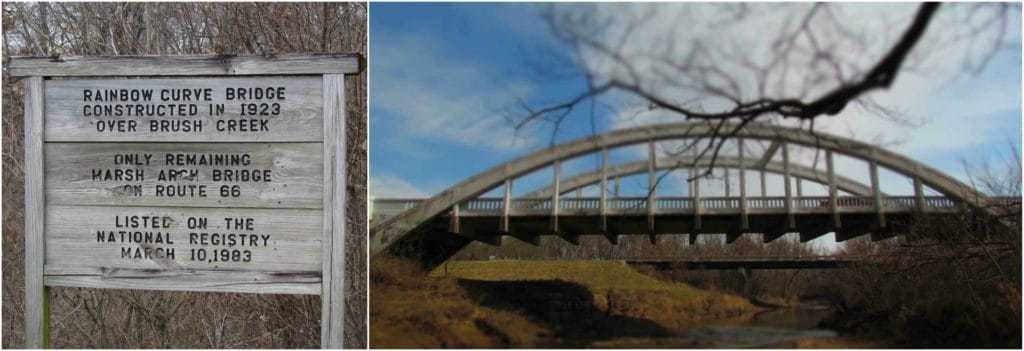 "The last Marsh Bridge on Route 66 has been nicknamed the ""Rainbow Bridge""."