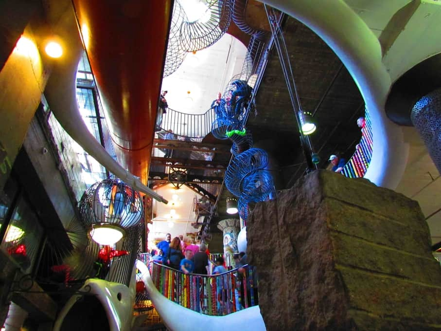 The inside of City Museum is filled with the same sort of eclectic creations as on the outside.