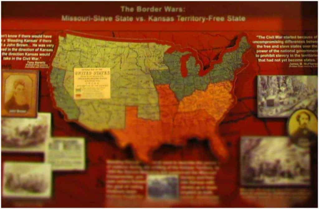 The Border War is a name given the region running along the Kansas-Missouri line.