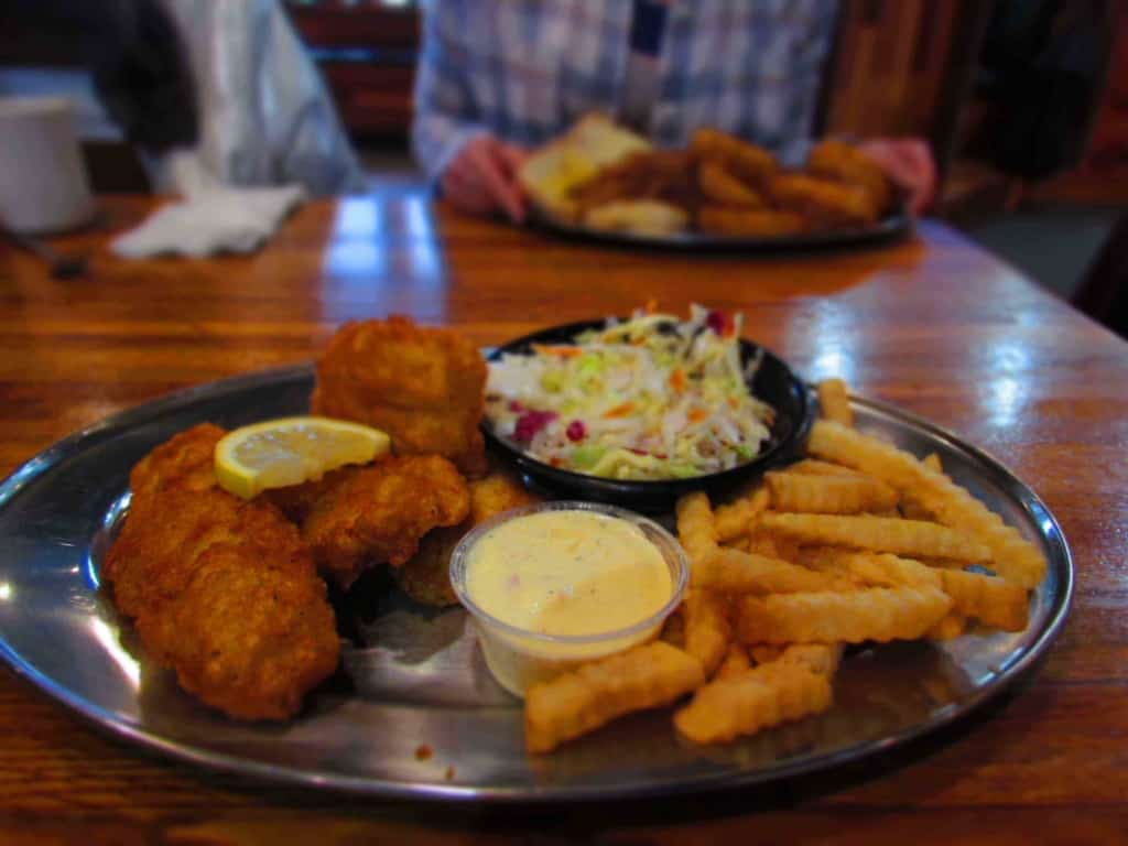 Fish and Chips are one of the hidden menu items at Cafe Telegraph.