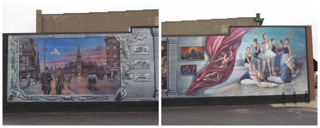 Joplin, Missouri is home to a good collection of murals that appear in unusual locations throughout the downtown area.