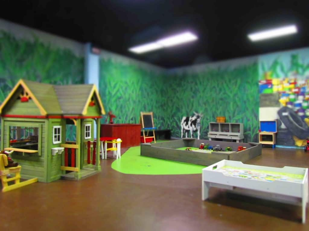 The kid's area is a perfect place to let the young ones burn off some energy during a visit to the National Agricultural Hall of Fame.