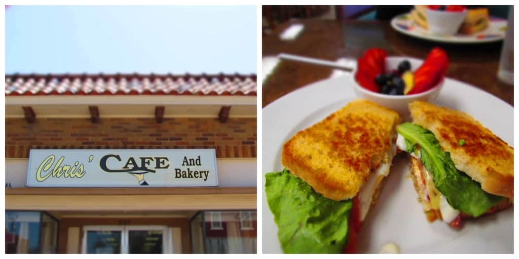 Chris' Cafe offers gourmet style dishes in a small town setting to show the locals that there are better options than fast food.