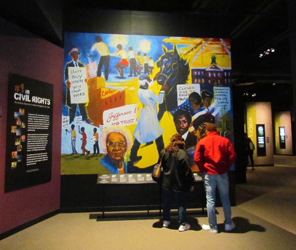 The Civil Rights exhibit was a poignant reminder of the struggle that African Americans face in the United States.