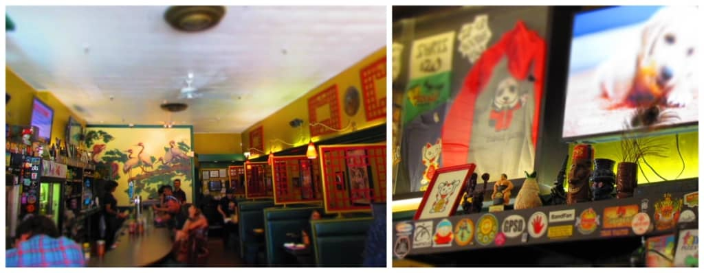 The interior of Fong's Pizza speaks more of Chinese cuisine that what we found.