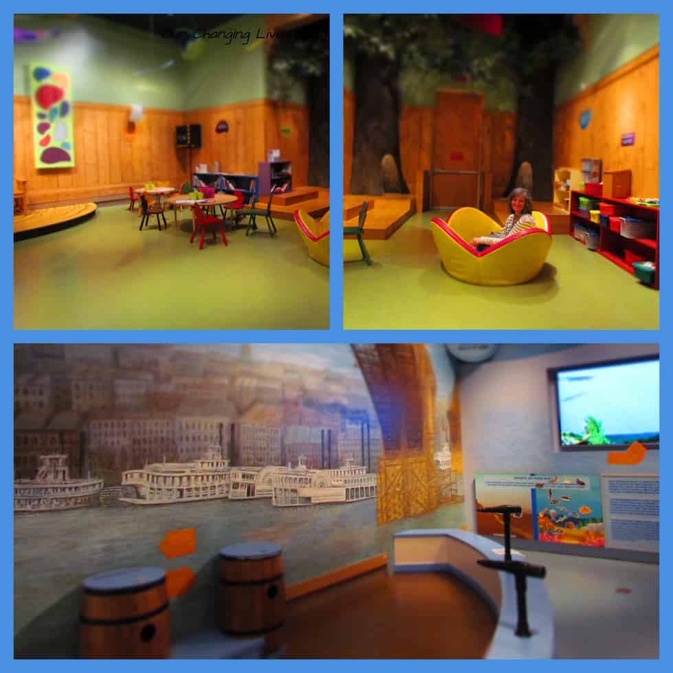 A children's area allows the younger visitors to burn off some energy and use their imaginations.