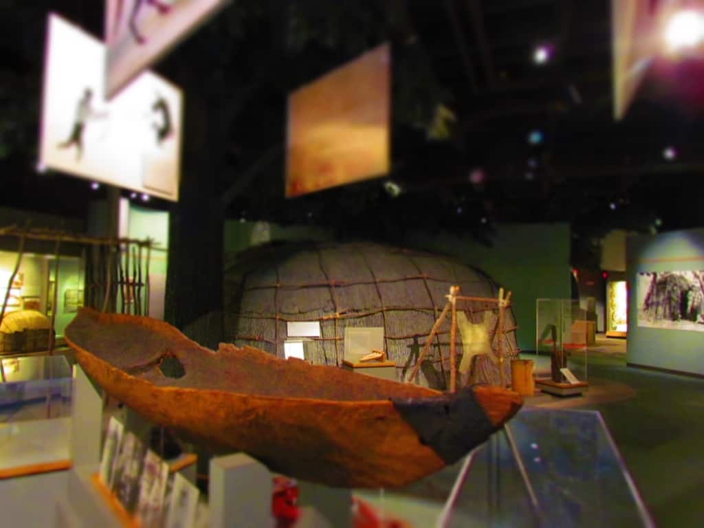 A large portion of the museum is dedicated to the native American Indians who first occupied the lands.