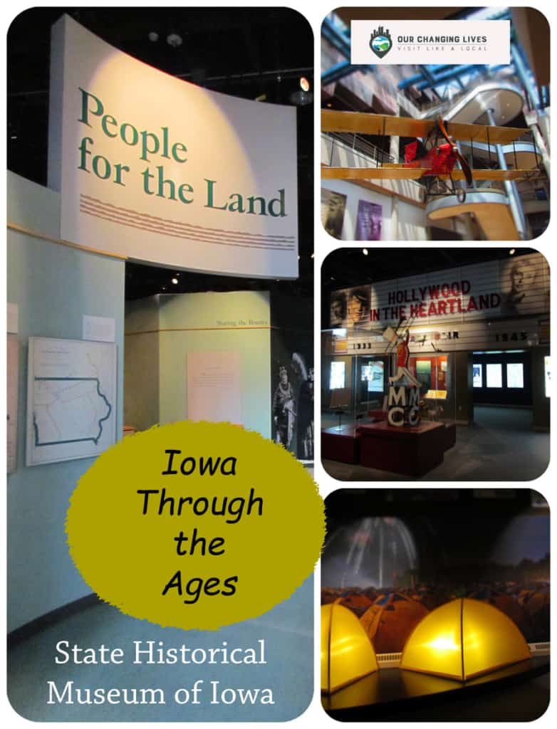 Iowa Through the Ages-State Historical Museum of Iowa-history-biking-movies-Civil War-Native American Indians-pearl buttons-coal mining-pioneers