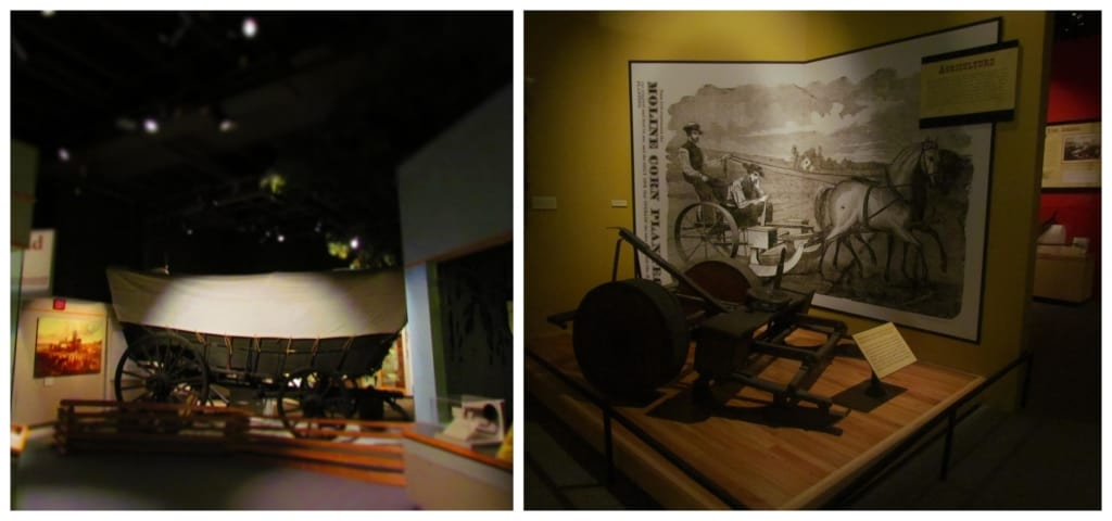 Moving through the museum takes you forward in time to when pioneers first began entering the territory.