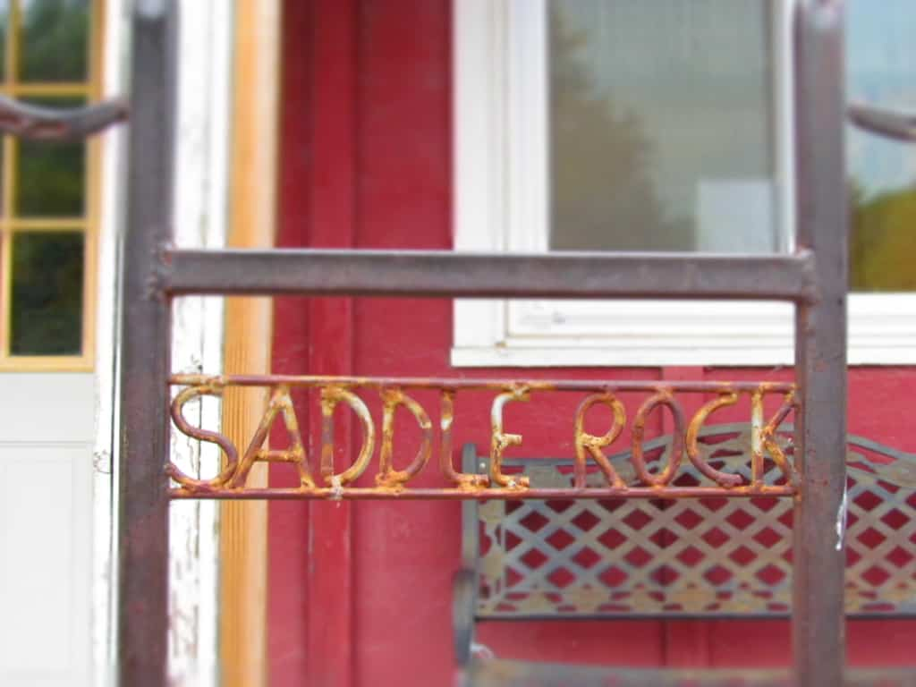 The entrance to Saddlerock cafe is a little off the beaten path.