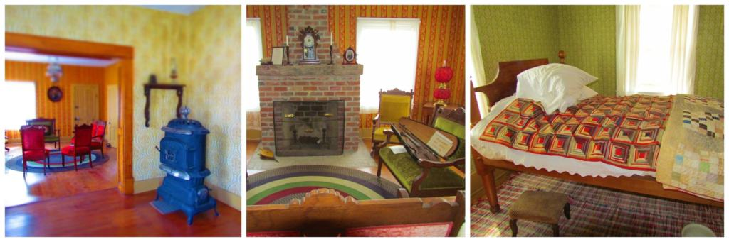 The interior of Seth Hays' House shows the affluent furnishings of a wealthy man in the 1800's.