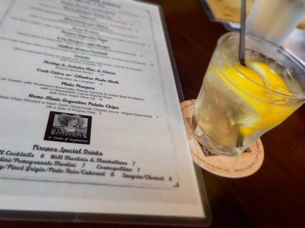 A refreshing drink is the perfect way to begin a Friday Happy Hour.