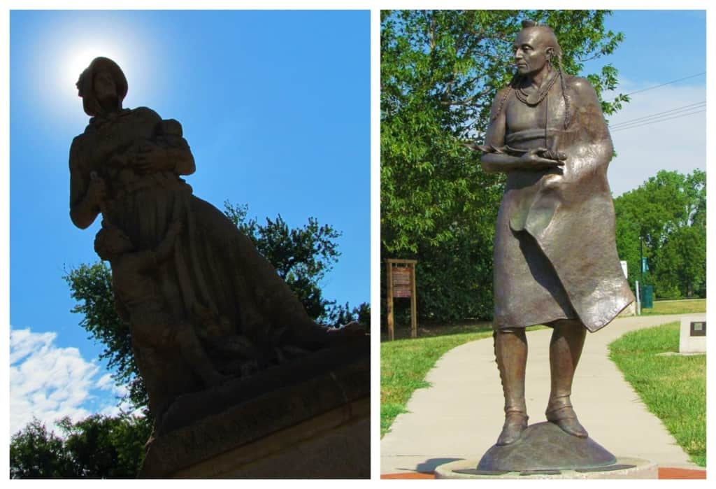Statues in the downtown represent the early inhabitants of the area around Council Grove.