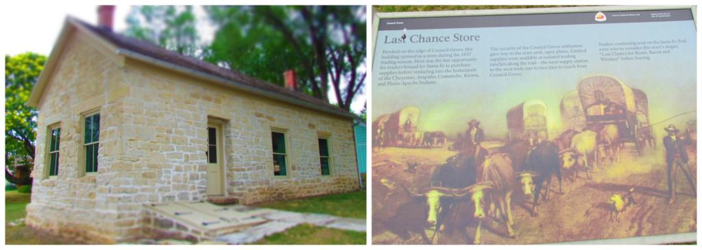 The Last Chance Store was a final stop for wagon trains prior to the 600 mile trip to Santa Fe.