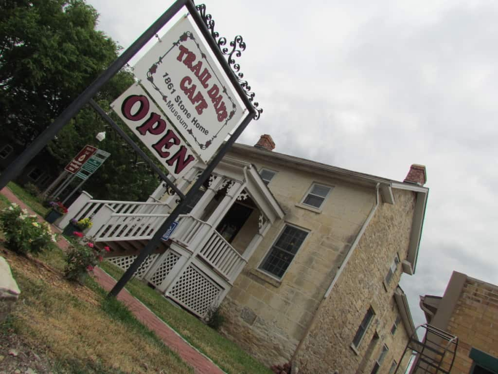 Trail Days Cafe is housed in an 1861 home from pioneer days.