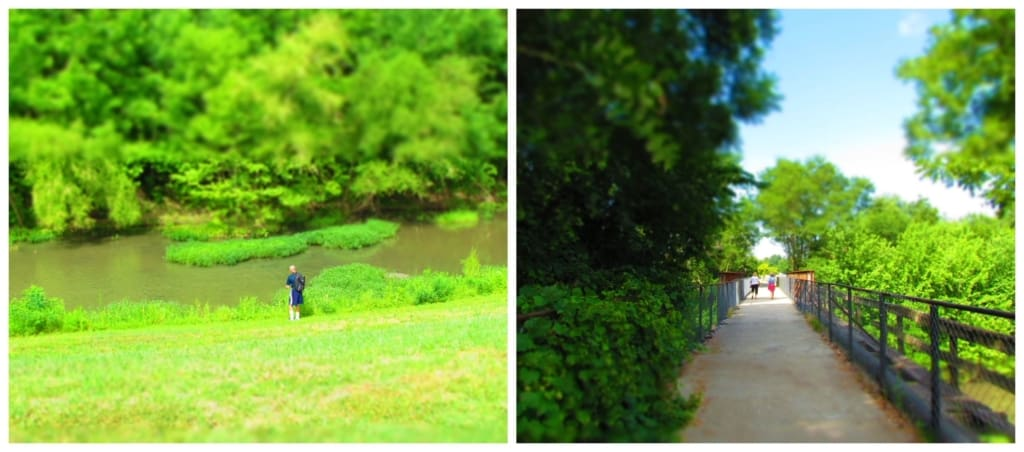 The Riverwalk in Council Grove offers visitors a relaxing stroll in a beautiful setting beside the Neosho river.