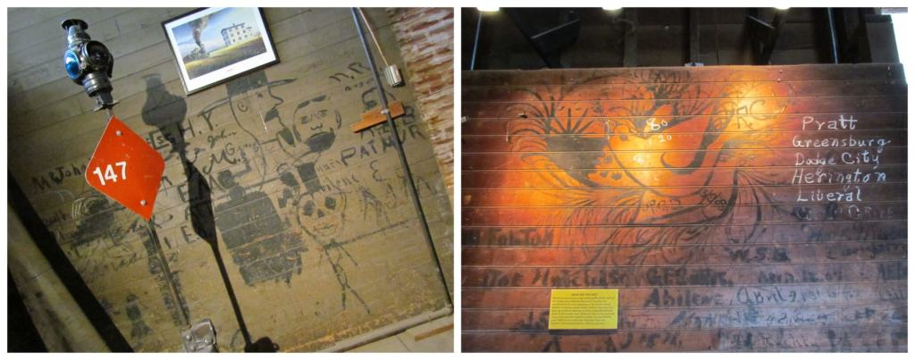 Wall art can be found inside the depot and dates back to the early days of the building.
