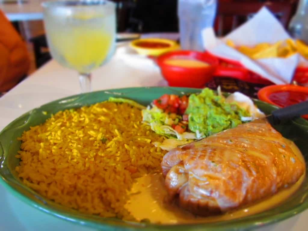 A chimichanga always makes for a filling meal.