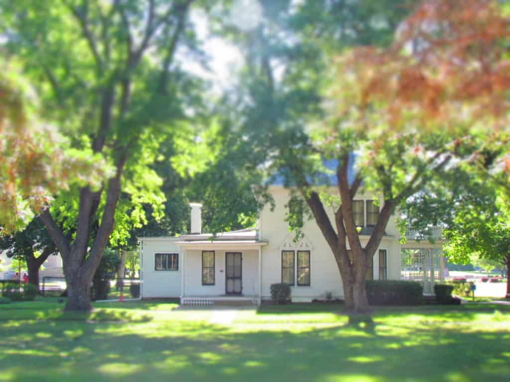 The Eisenhower boyhood home can be toured by visitors.